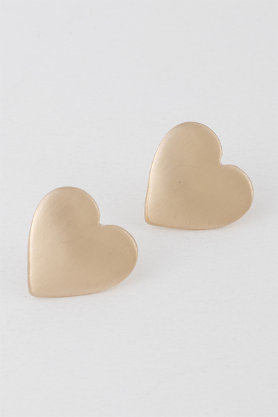 Simple Heart Stud Earrings