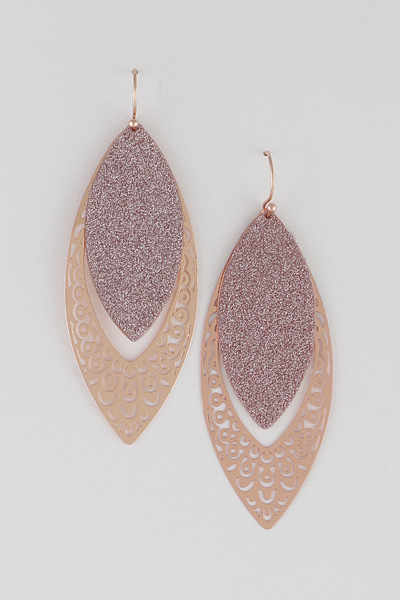 Contrast Cut Out Earrings