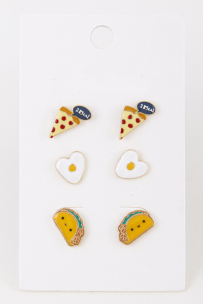 Hearty Foods Earring Set