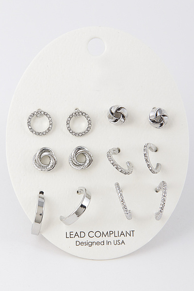 Ladylike Cute Earring Set