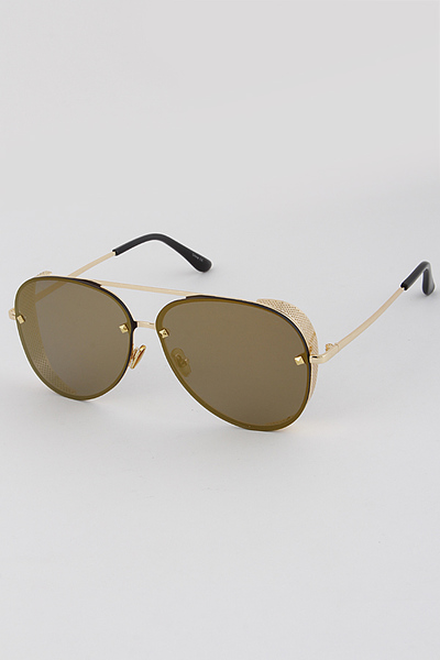 Aviator Sunglasses With Side Shades