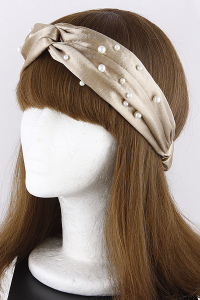 Twisted Faux Pearl Head Band