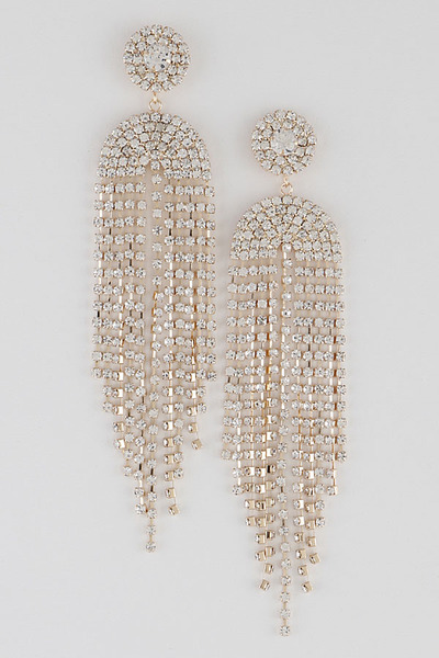 Symmetrical Rhinestone Filling Earrings