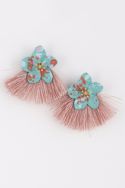 Cute Flower & Tassel Earrings