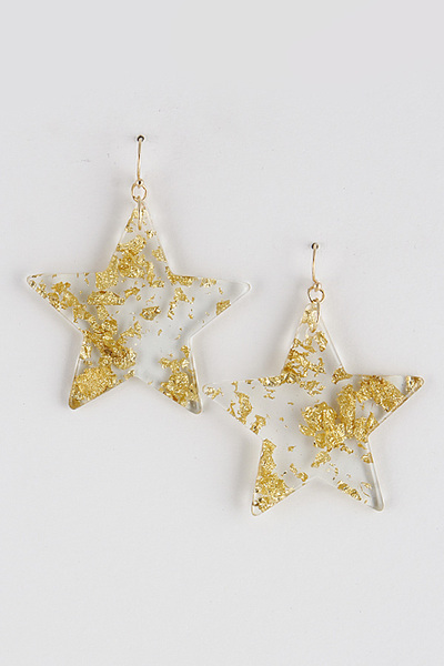 Shiny Flake Star Earrings