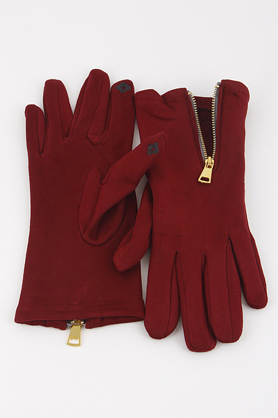 Fashionable Gloves With Zipper