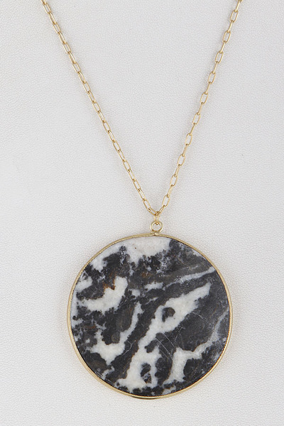 Round Marble Necklace