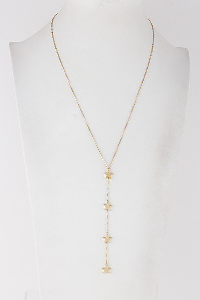 Star Drop Chain Necklace