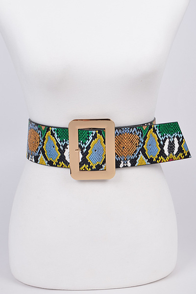 Wide Multicolor Melt Belt