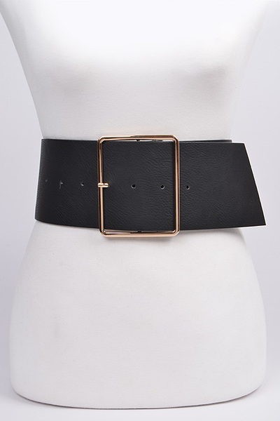 Wide Bulky Buckle Belt