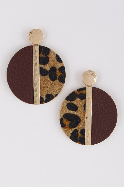 Dangle & Drop Circle Earrings