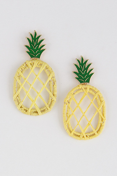 Pineapple Twined Earrings