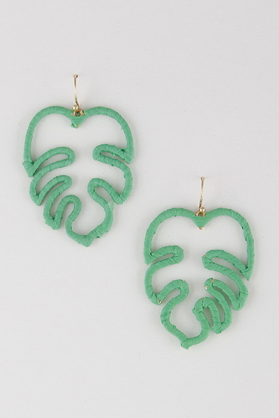 Twine Leaf Earrings