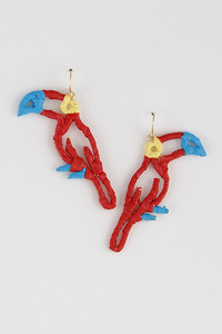 Twine Parrot Earrings