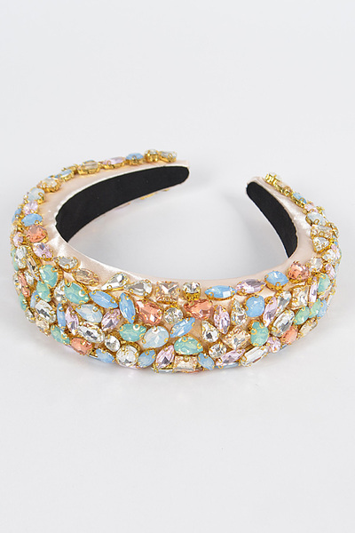 Multi Stone Embellished Head Band