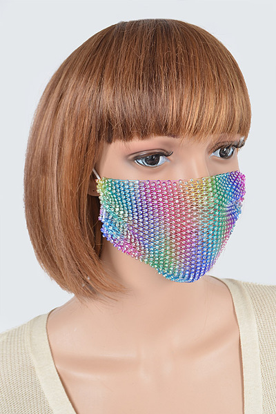 Multicolor Rhinestone Fashion Mask