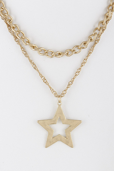 Chainlink Star Necklace