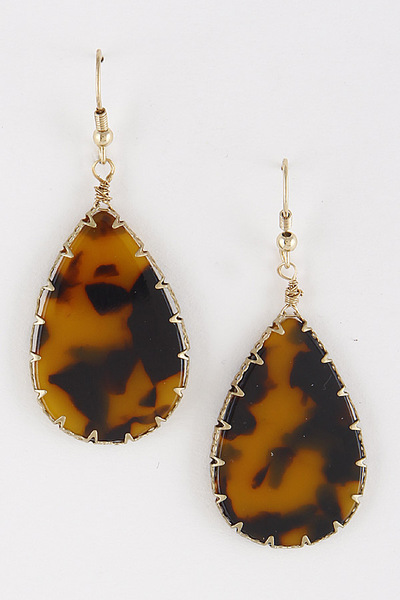 Tear Drop Acetate Earrings