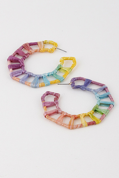 Edged Funky Hoop Earring