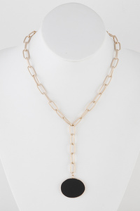 Marble With Chain Necklace
