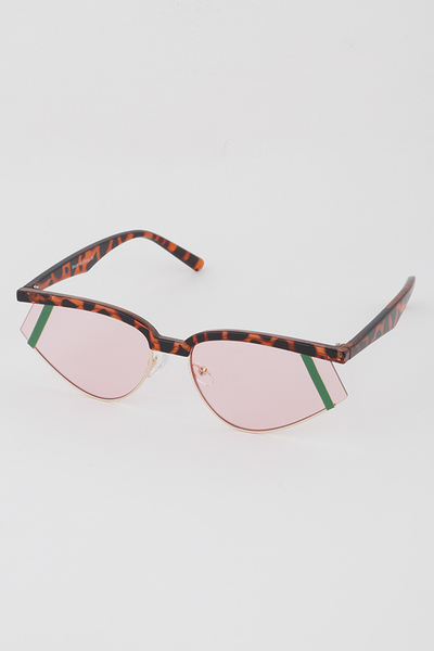 Open Frame Cat Eye Sunglasses