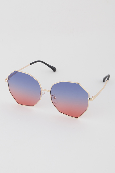 Gold Frame Nonagon Aviator Sunglasses