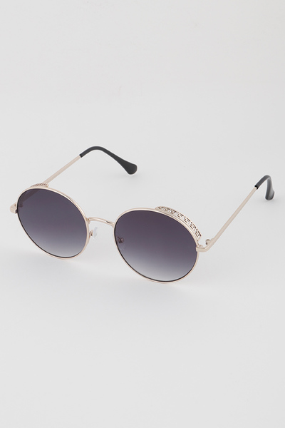 Oriental Pattern Gold Frame Sunglasses