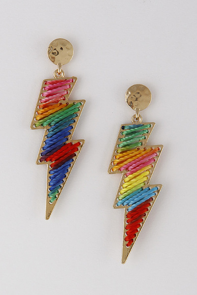 Lightning Thread Drop Earrings