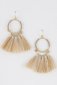 Aztec Inspired Tassel Earrings