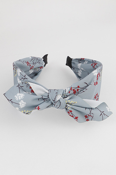Branch Printed Knot Head Band