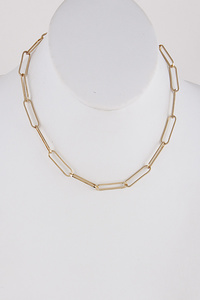 Round Metallic Necklace