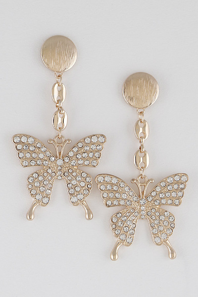 Luxury Butterfly Drop Earrings