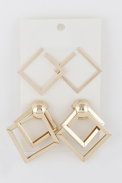 Square Pattern Earrings