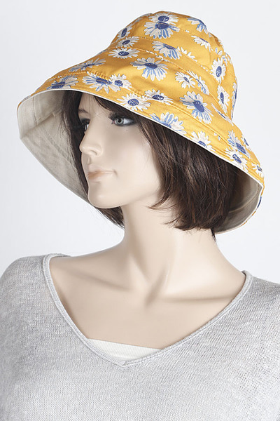 Flower Printed Bucket Hat