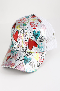 Draw Your Heart Colorful Cap