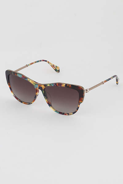 Framed Tinted Cat Eye Sunglasses