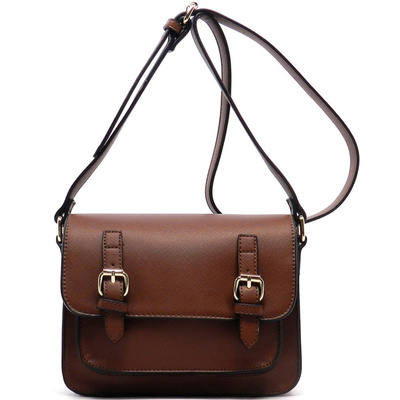 Flap Over Buckle Cross Body Bag