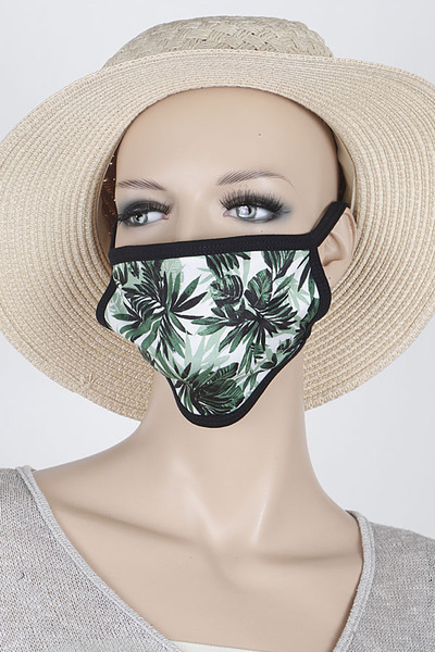 Tropical Print Mask