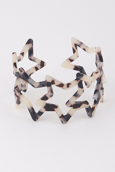 Overlapping Star Open Cut Bracelet