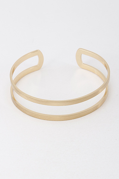 Open Cut Two Line Bracelet