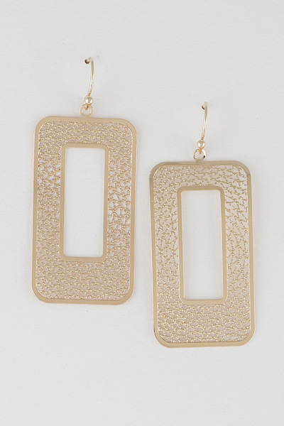 Open Cut Mesh Earrings