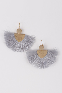 Fan Fringed Tassel Earrings