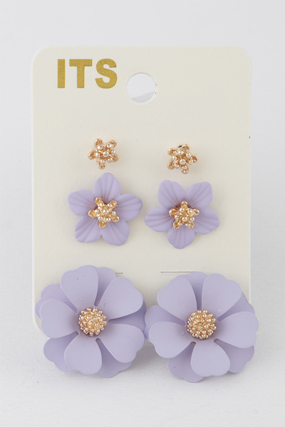 Flower Garden Stud Earrings Set