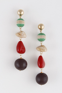 African Style Mixed Stones Earrings