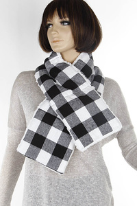 Checker Plaid Winter Lined Scarf