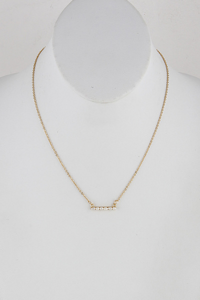 Pearl Bar Statement Necklace