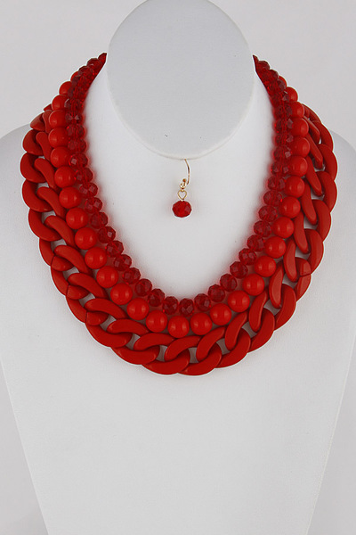 Beaded And Chains Necklace