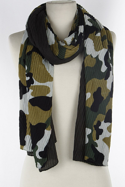 Camouflage Lined Scarf
