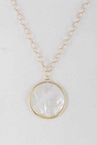 Natural Stone Inset Necklace