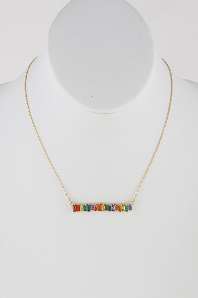 Rhinestone Bar Necklace